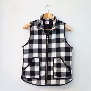 Black & White Buffalo Plaid Vest